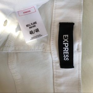 Express Jeans - White Flare Jeans